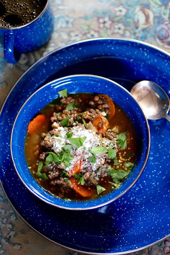 Wintery French Lentil Soup with Beef, Carrots, Sherry Vinegar ...
