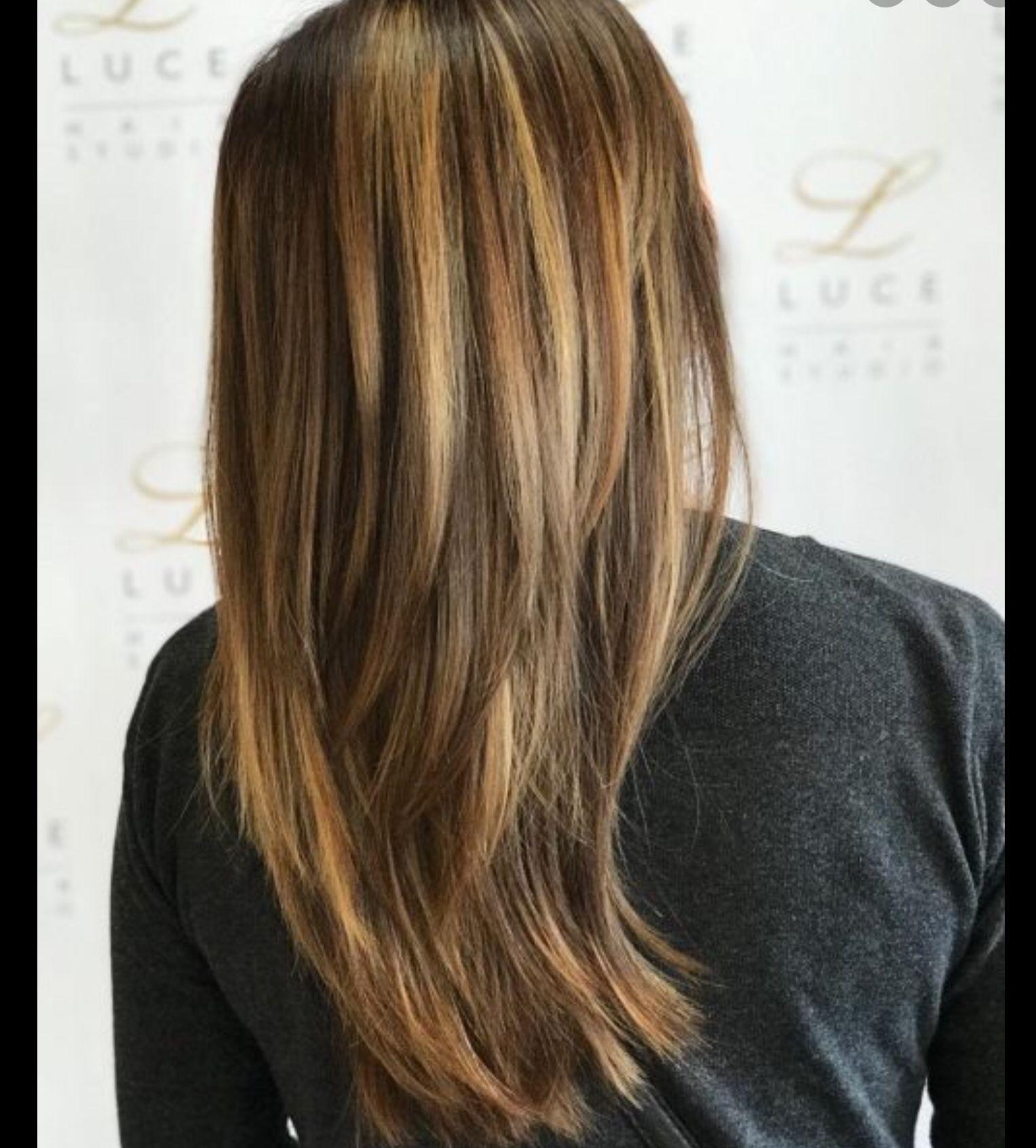 stufenschnitt lange haare v schnitt gestuft - hochsteck