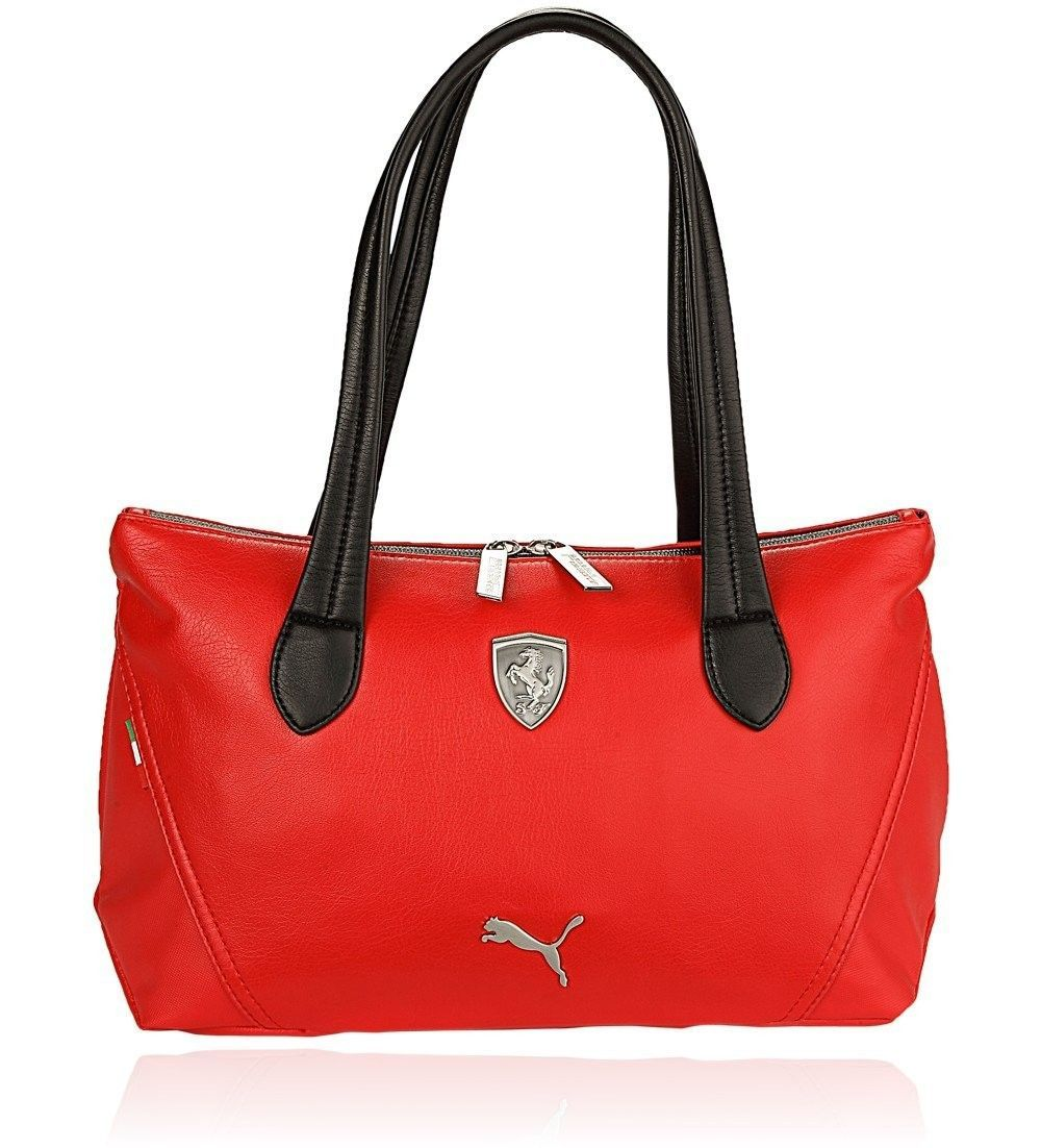 e69f248617 PUMA FERRARI WOMEN'S F1 TEAM SHOPPING TOTE LARGE BAG RED PMMO1033 NEW W/  DEFECTS | Designer Women Bags | Large tote, Shopping totes, Bags