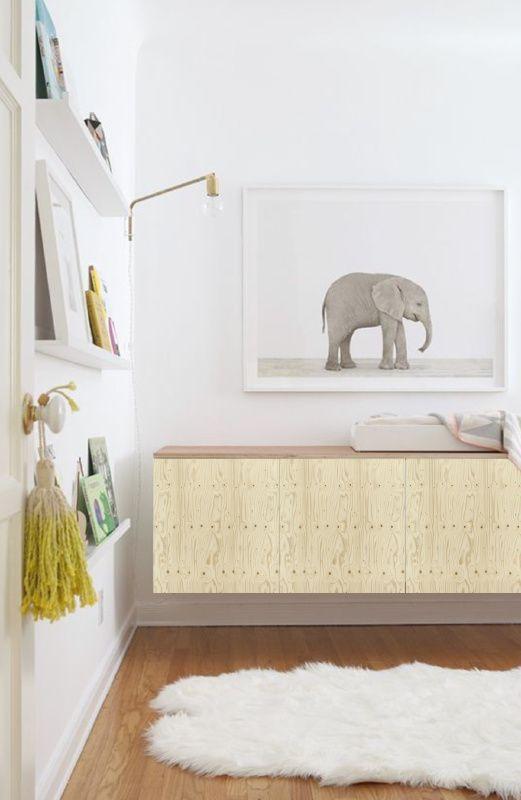 33 ways to use ikea besta units in home d cor home ideas for Dormitorio kallax