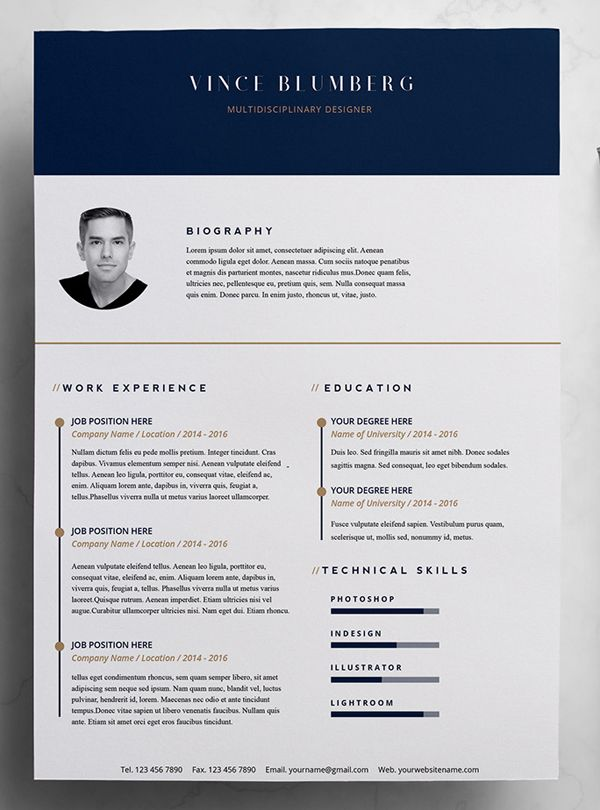 Illustrator Resume Template 23 Free Creative Resume Templates With Cover  Letter