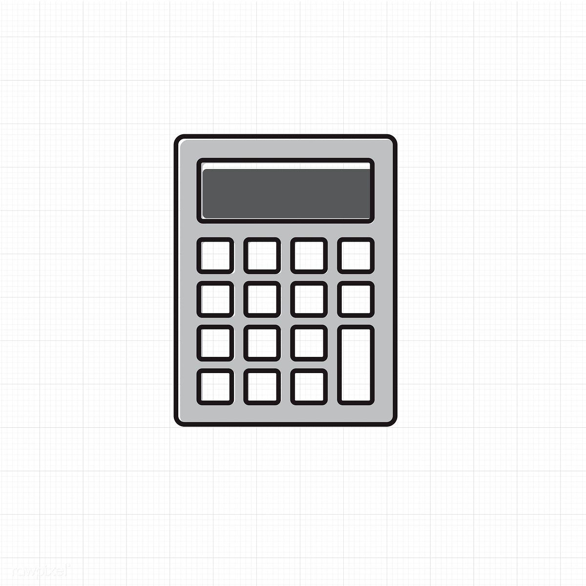 Vector of calculator icon free image by