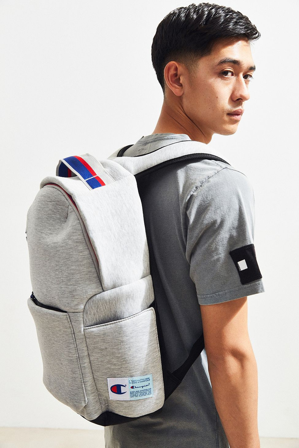 2555e4e8e11e Urban Outfitters Champion Attribute Backpack - Light Grey One Size ...