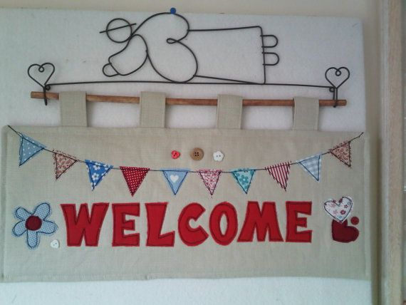 PDF Pattern for 'Welcome' Quilted Wallhanging by JustJudeDesigns, £4.00