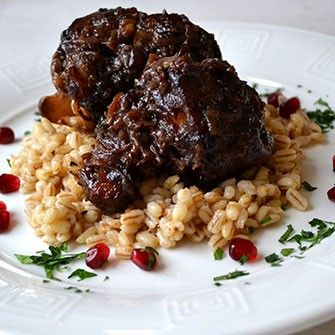 wine braised oxtail