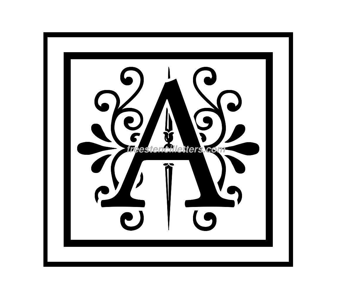 Printable Monogram Templates  Print A Letter Stencil  Stencil