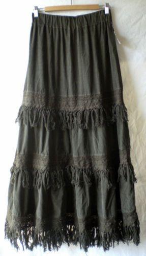Olive Fringe Maxi Dress