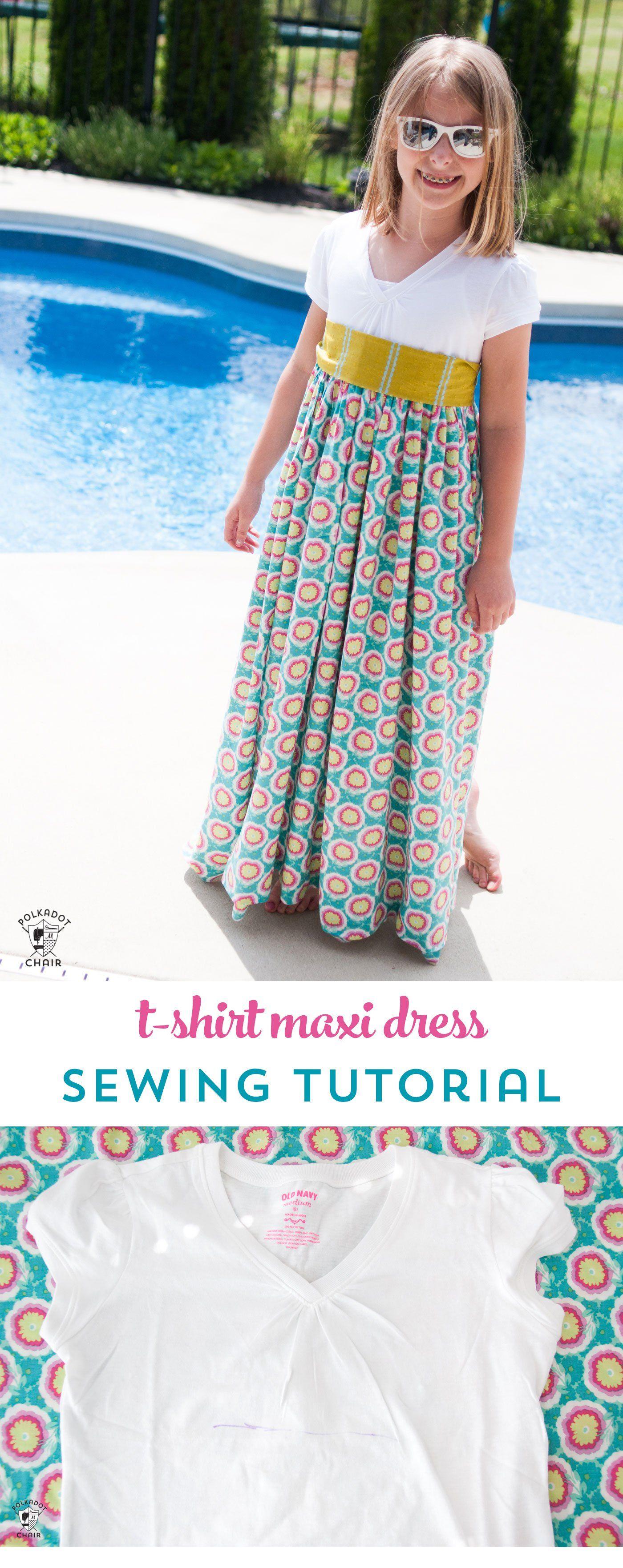 T-Shirt Maxi Dress Pattern -   17 DIY Clothes Projects maxi dresses ideas
