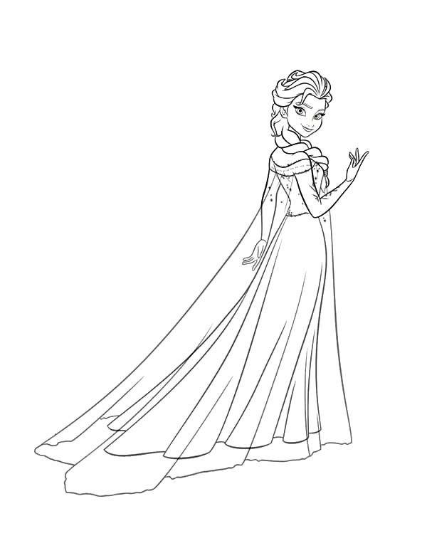 Princess Anna Beautiful Queen Elsa Coloring Pages 600x777 Jpg 600 777 Elsa Coloring Pages Princess Coloring Pages Disney Princess Coloring Pages