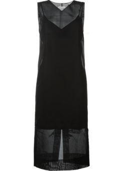 sleeveless transparent dress