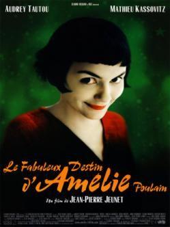 [film] Le Fabuleux Destin d'Amélie Poulain est un film français réalisé par Jean-Pierre Jeunet qui est sorti en 2001. Il s'agit d'une comédie romantique écrite par Jean-Pierre Jeunet et Guillaume Laurant avec Audrey Tautou dans le rôle-titre. https://fr.wikipedia.org/wiki/Le_Fabuleux_Destin_d%27Am%C3%A9lie_Poulain