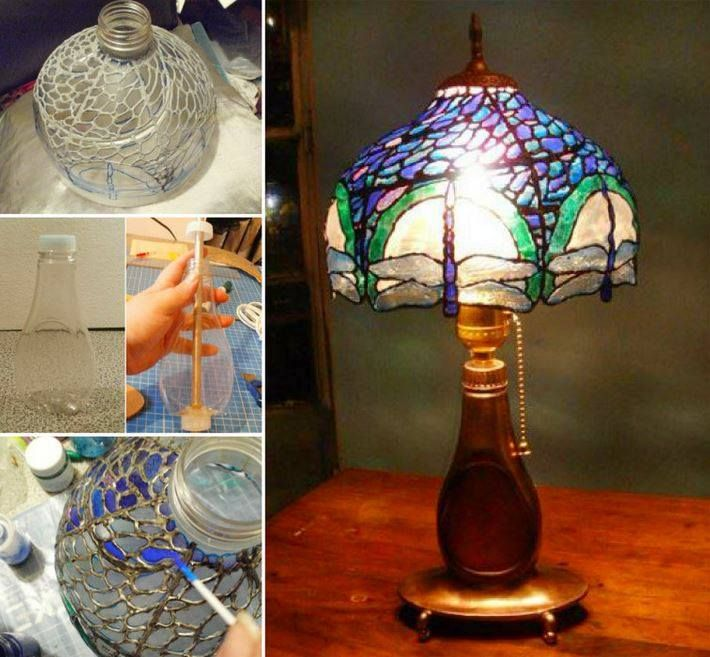 How To Make Faux Stained Glass Using 2 Ingredients The Whoot Tiffany Lamps Faux Stained Glass Lamp