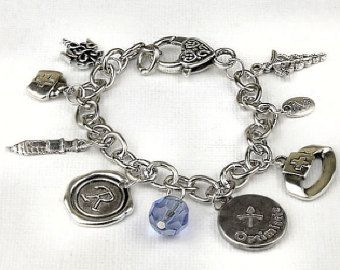 Personalized Nurse Bracelet with Your Initial, Zodiac and Birthstone
