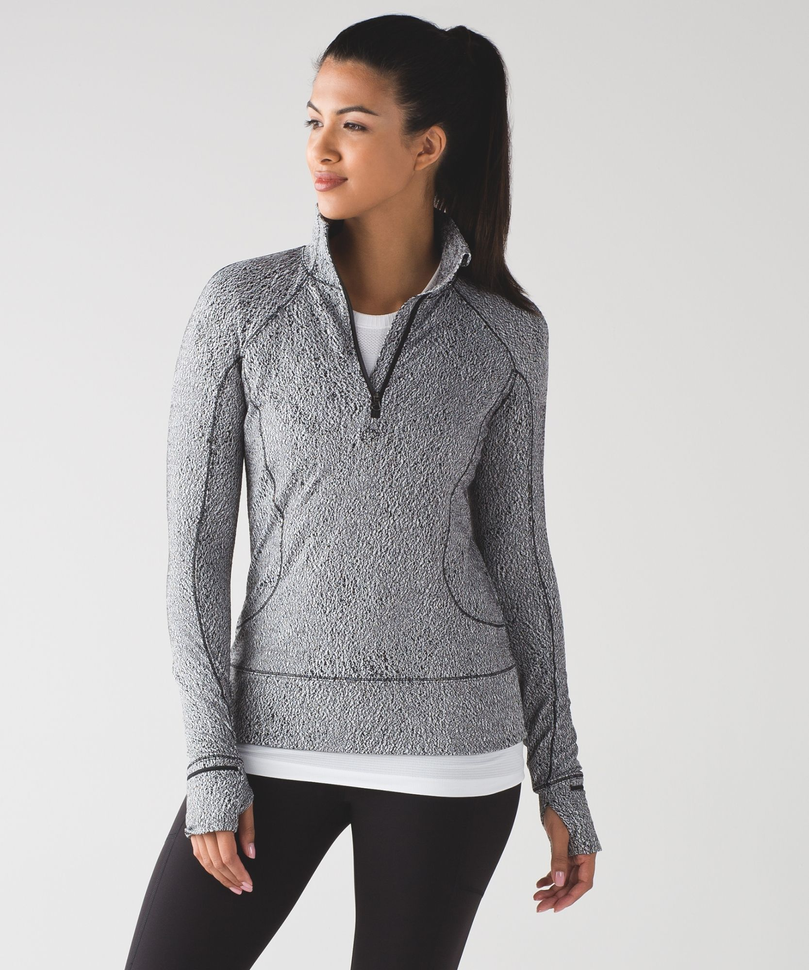 6218066e3c57bf Women's Long Sleeve Running Top - Rush Hour 1/2 Zip - lululemon ...
