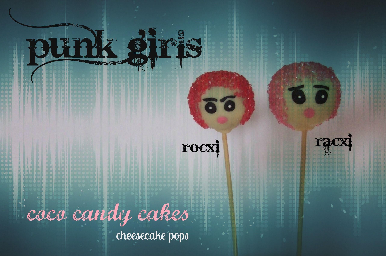 """Punk Girls cake pops"" de coco candy cakes."