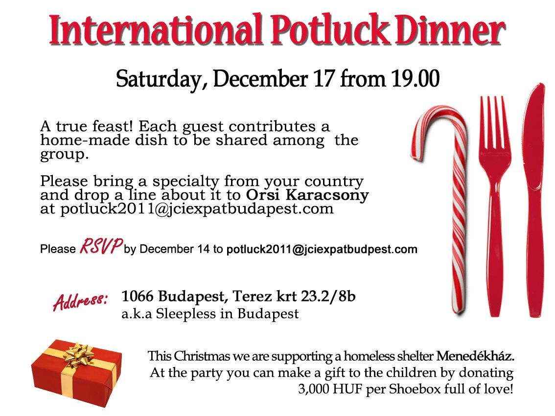 Ideas For A Potluck Dinner Party Part - 32: Captivating Potluck Dinner Invitation Template With Simple White Background