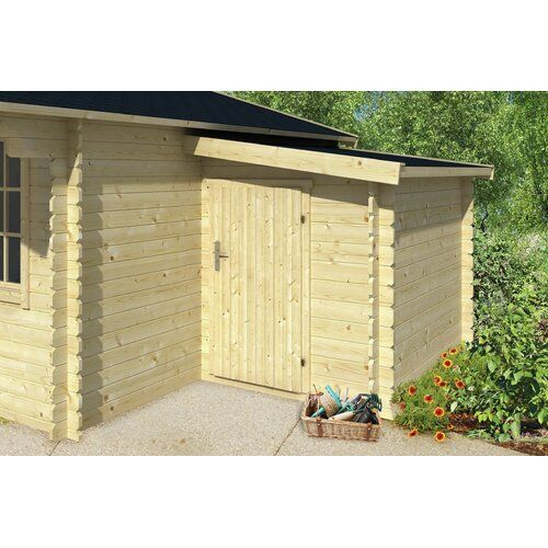 Photo of 160 cm x 300 cm Tool shed Yusuf made of solid wood Garden Living Foundation: With foundation, Floor: With floor – 27 mm, Roof: Rectangular Brown