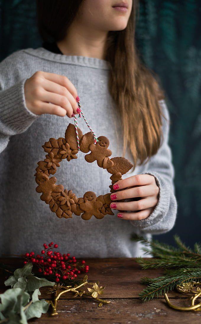 Vegan gingerbread cookie wreaths   Supergolden Bakes