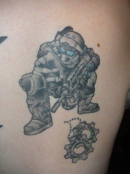 My kind of tattoo! | Gears of War!!! | Pinterest | War tattoo ...