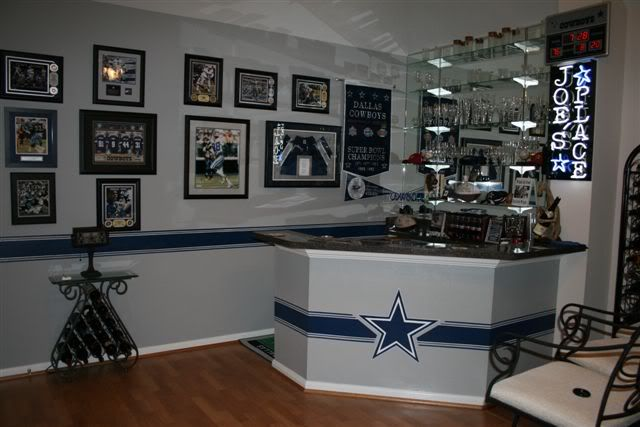 dallas cowboys garage organization and dallas cowboys room