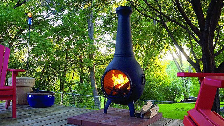 5 Best Cast Aluminum Chimineas Of 2021 Theonlinegrill Com Outdoor Fire Pit Garden Fire Pit Outdoor Fire Pit Designs