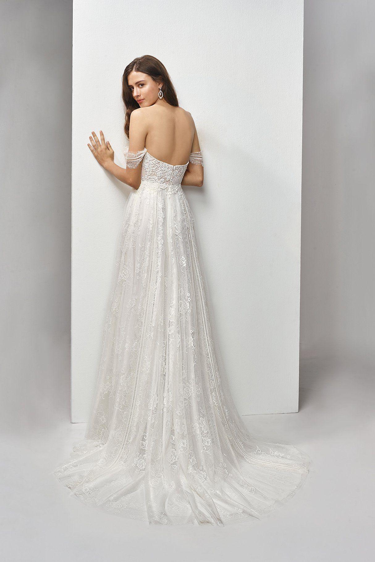 Bronte Gown Beautiful By Enzoani Eternal Bridal Drop Waist Wedding Dress Boho Chic Wedding Dress A Line Wedding Dress