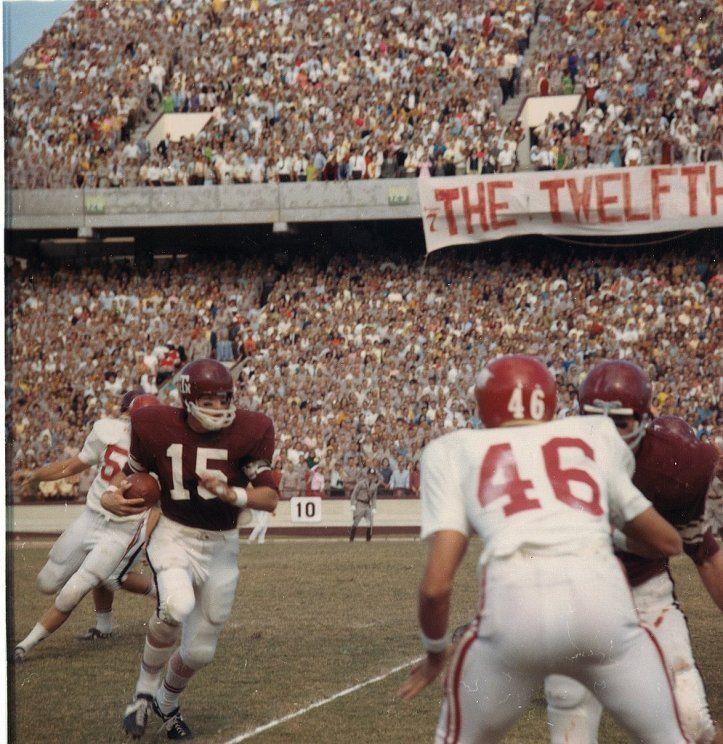 1968 game photo of texas a m versus arkansastwelfth