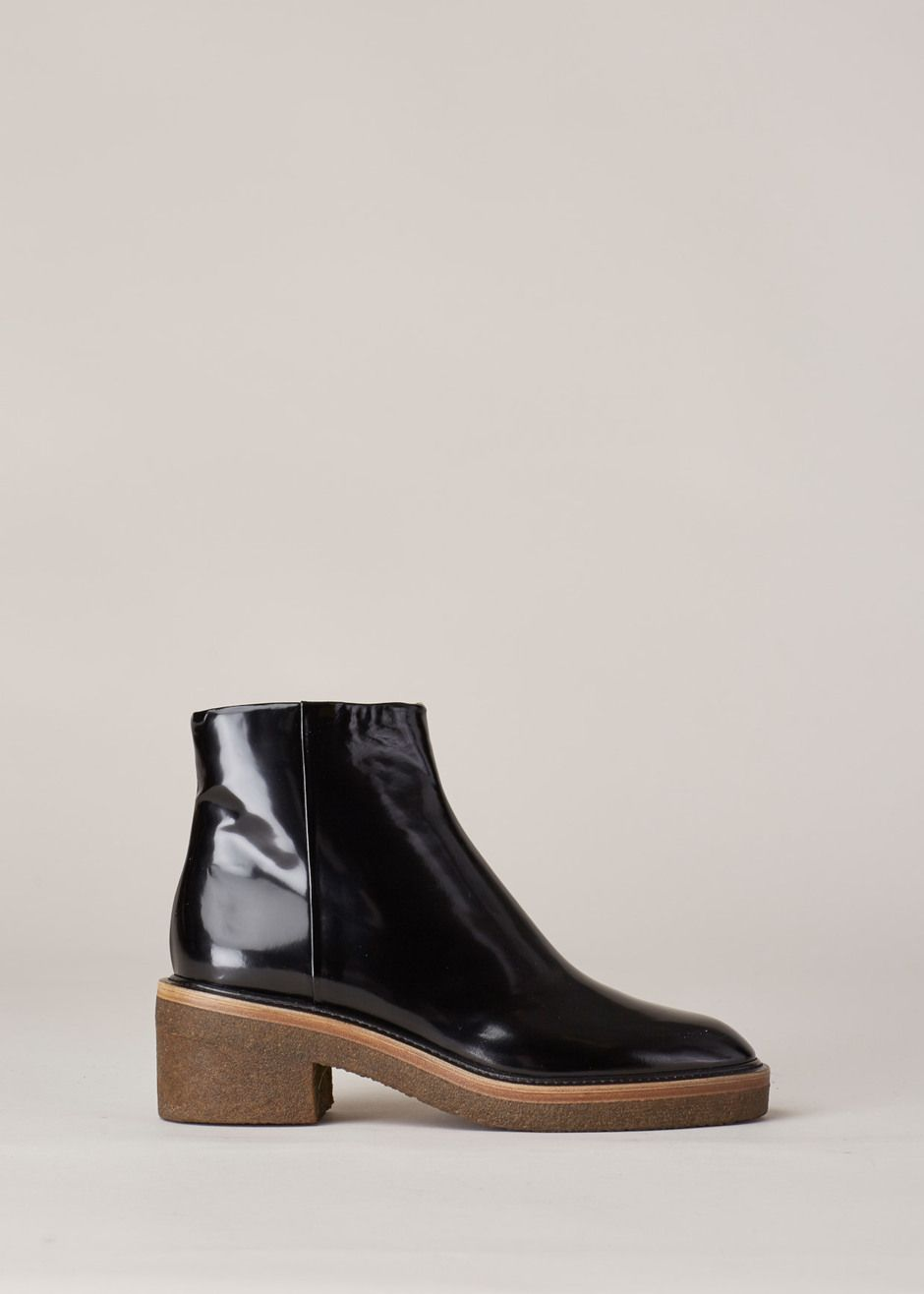 Dries Van Noten Chunky Heel Zip Boot (Black) | c l o s e t ...