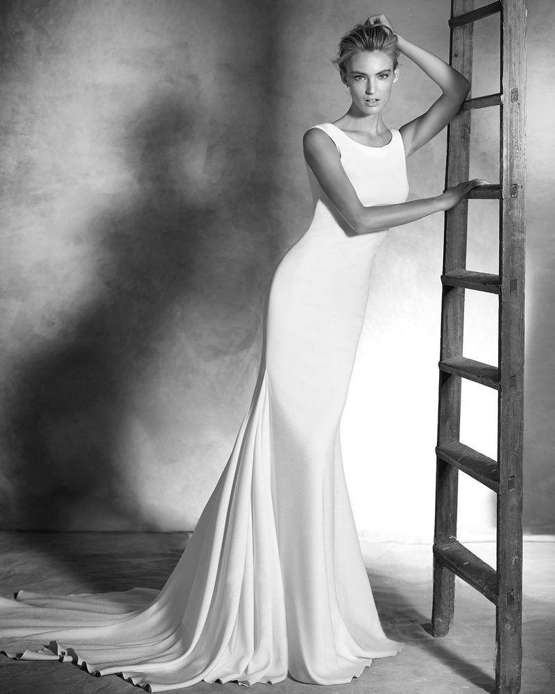 IDALIA Plain Einfache Brautkleider Chiffon V Backless Kostenloser ...
