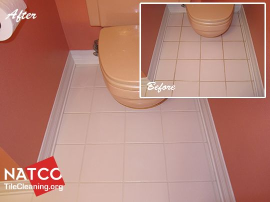Painting the grout in a bathroom tile floor. | Projects ...