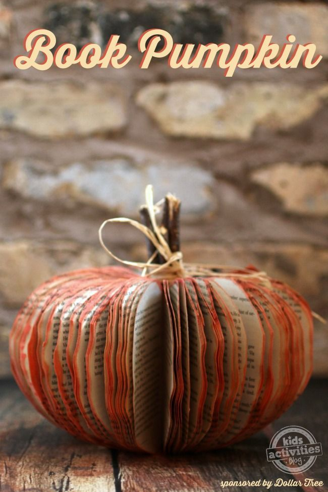 Harvest Craft Ideas For Kids Part - 24: Make A Book Pumpkin U2013 Frugal Fall Craft - This Is So Easy! And Turns Out  Great Make Your Own Book Pumpkin To Display For All Fall Decor