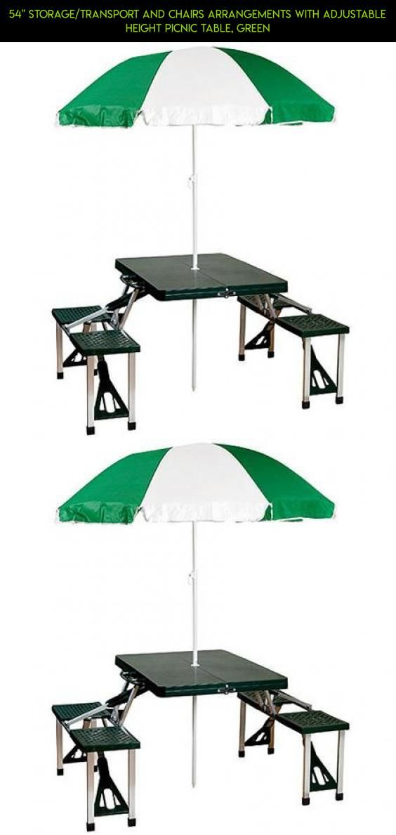 StorageTransport And Chairs Arrangements With Adjustable Height - Picnic table parts