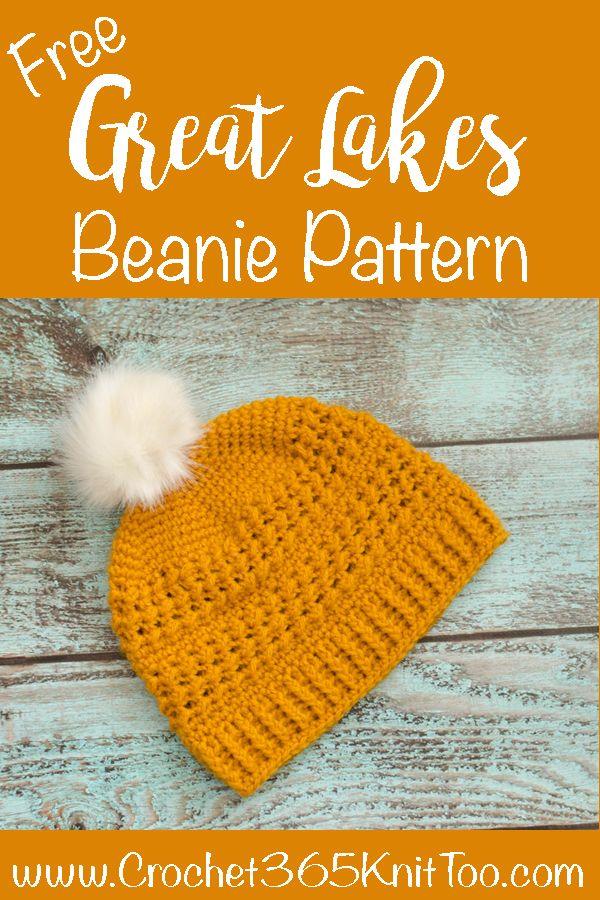 Great Lakes Beanie Crochet Pattern   Hats   Pinterest   Hüte, Mütze ...