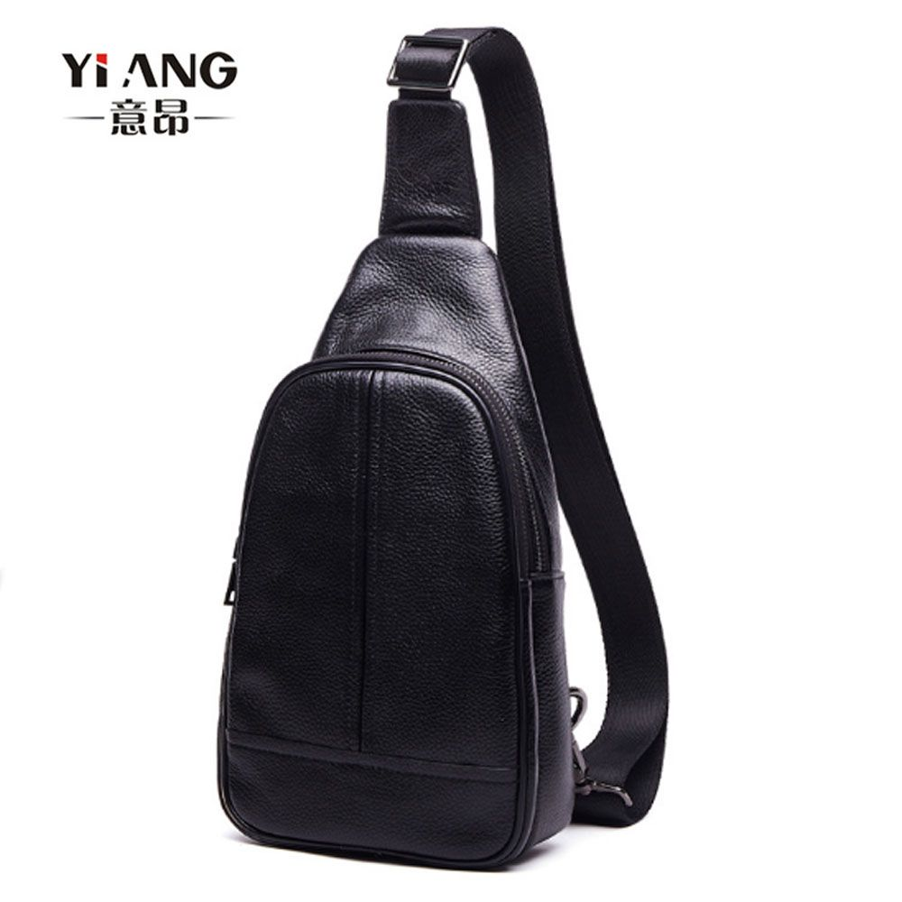 7a9e977a9abf New Men s High Quality Genuine Leather Cowhide Sling Chest Bag Pack Fashion  Crossbody Bag Travel Casual
