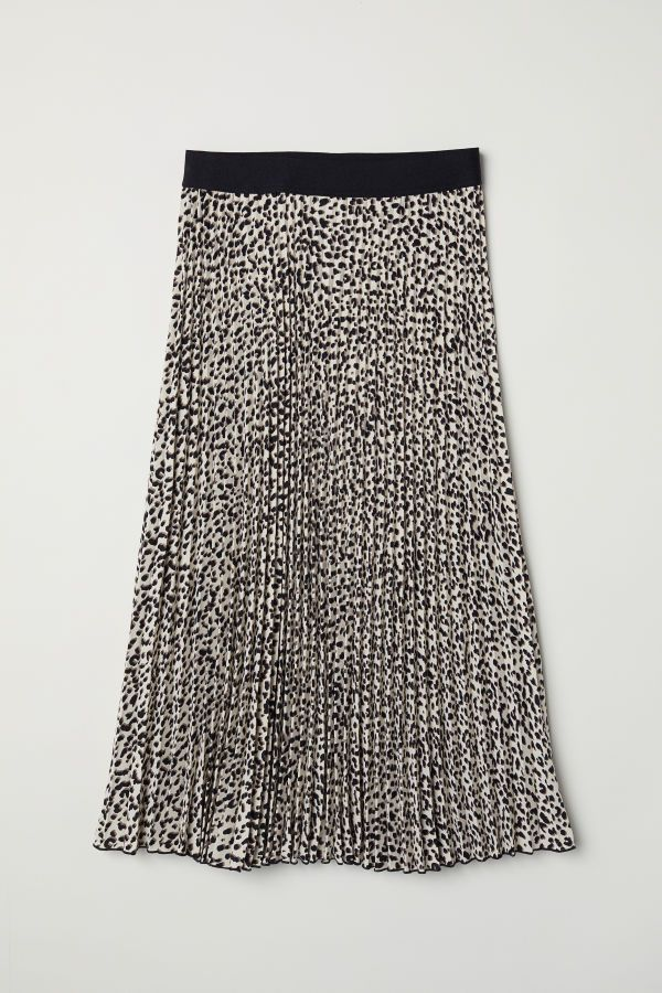 9fe5c67ab037 Pleated Skirt | Beige/leopard print | WOMEN | H&M US | 24. Apparel ...
