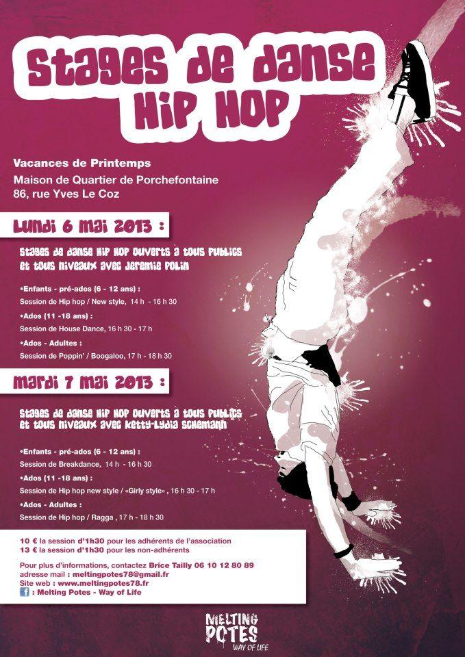Stages de vacances danse hip-hop. Du 6 au 7 mai 2013 à Versailles.