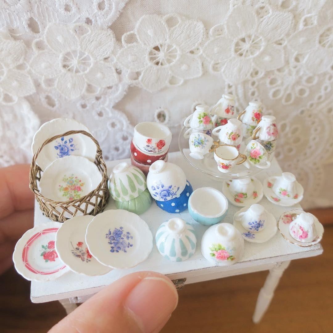 2017 09 Miniature Kitchen Set By Pansbear Clay Crafts Diy
