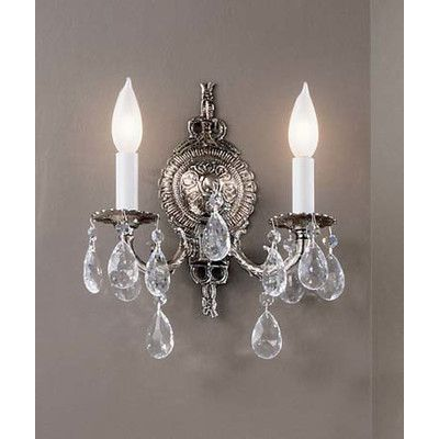 Classic Lighting Barcelona 2 Light Wall Sconce Base Finish: Millennium Silver