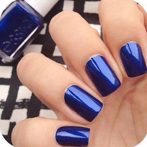 Azul Eléctrico Tablero 1 Uñas Azules Uñas Perfectas Y