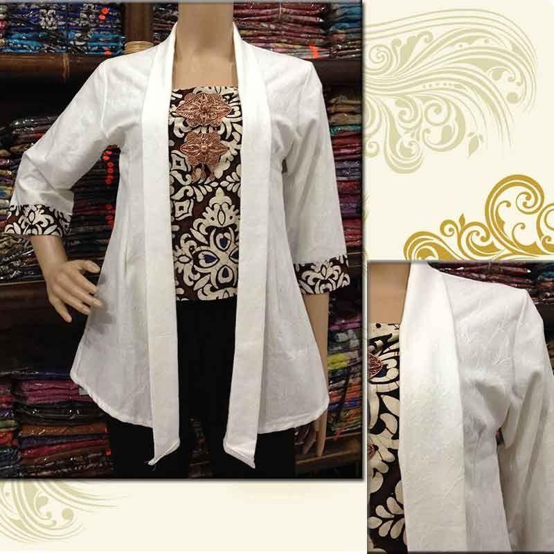 Model Baju Batik Kutu Baru Untuk Wanita Modis  7137744eda