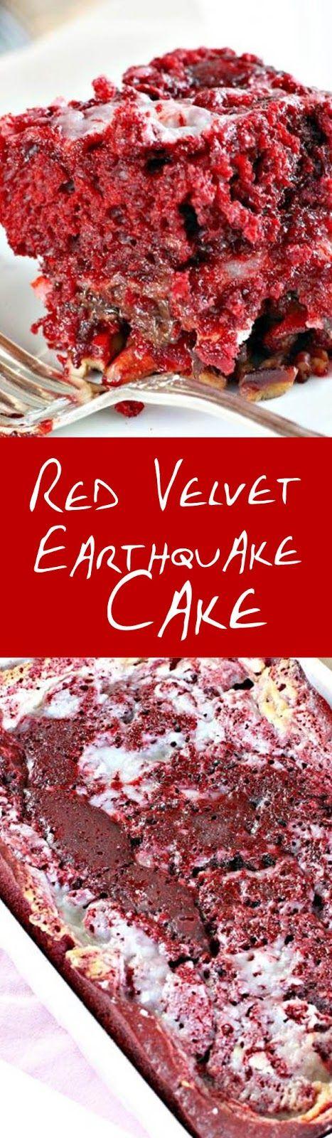 Red Velvet Earthquake Cake Earthquake Cake Recipes Earthquake Cake