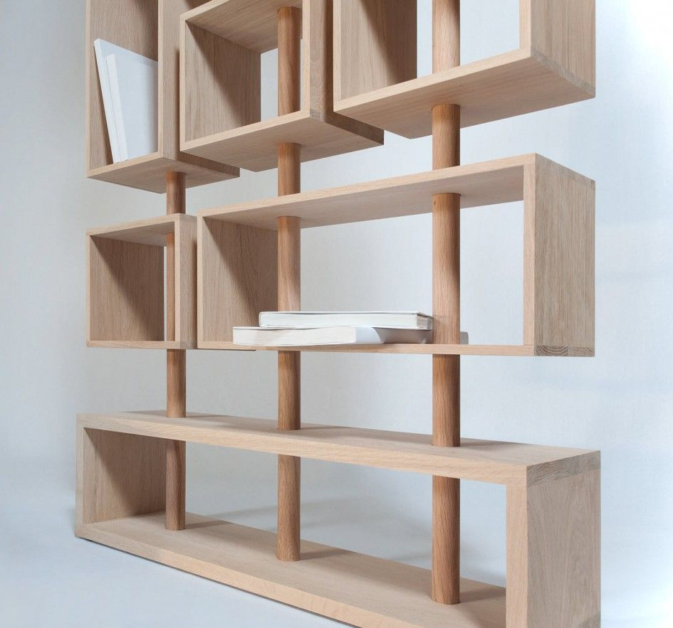 Attrayant Wooden Modular Shelving Unit Design Idea With Cubes Shelves And Wood