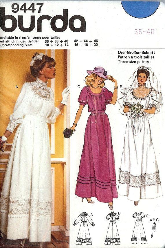 PATTERN Burda 9447 Size 101214 Wedding Dress by whitestarheart ...