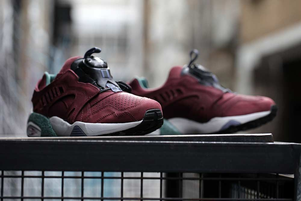 puma trinomic disc blaze burgundy