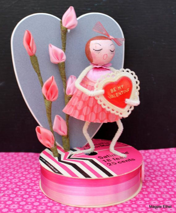 Vintage Style Valentine Girl - Spun Cotton, Be My Valentine