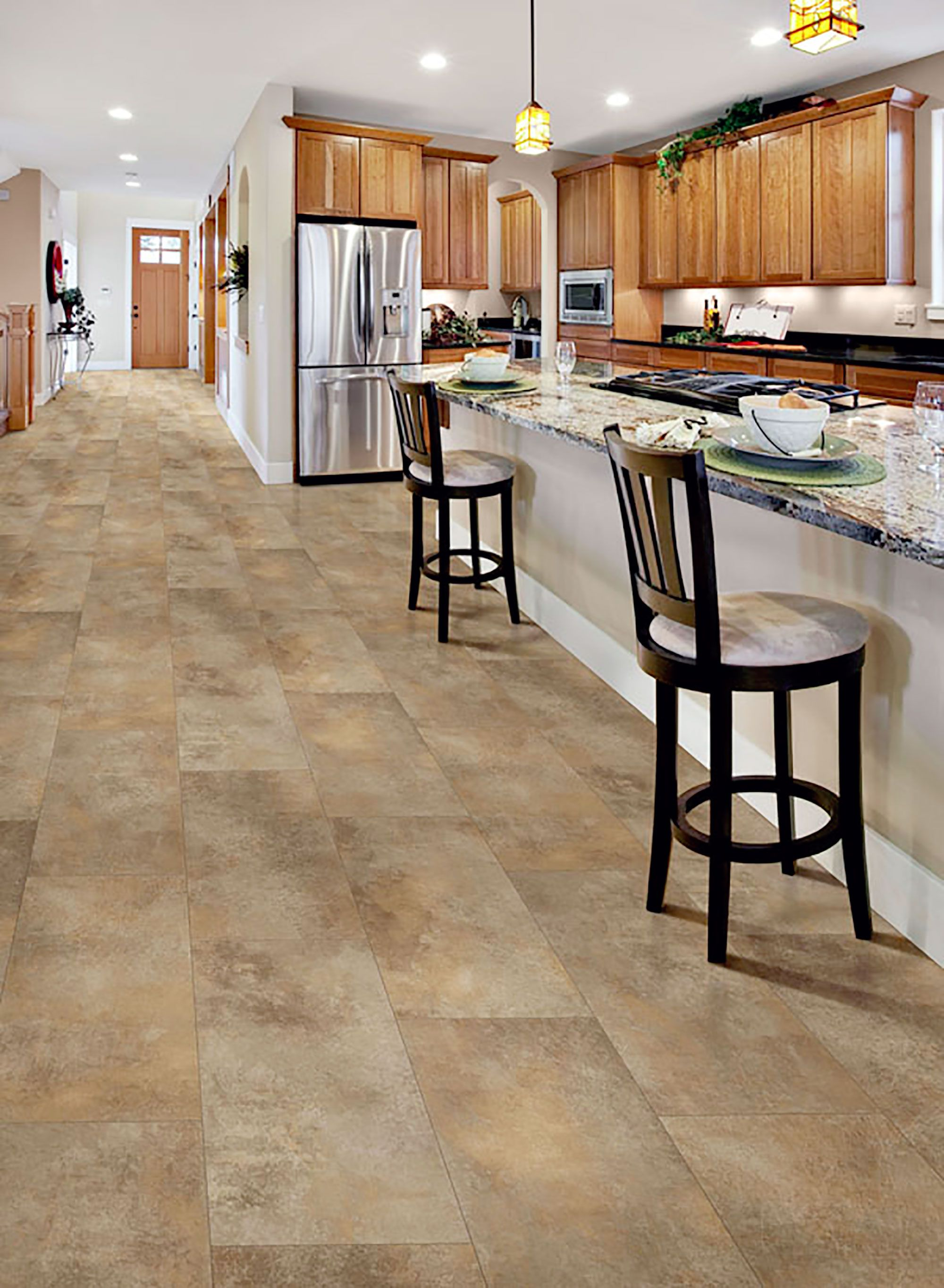 Kitchen Sheet Vinyl Flooring Airstep Evolution Casa Nova Desert View Congoleum Airstep