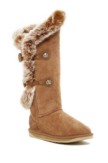 Nordic Angel Extra Tall Genuine Rabbit Fur and Shearling Boot by Australia Luxe Collective on @HauteLook