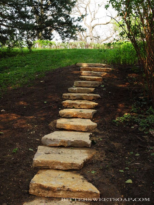 rustic stone steps i would love these down the hill to my on extraordinary garden stone pathway ideas to copy id=69194
