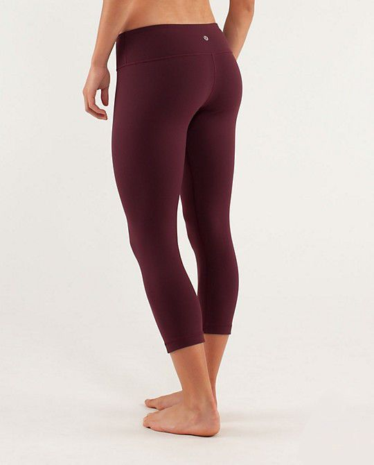 Lululemon Outlet Sale Wunder Under Crops Wine Red UK/USA