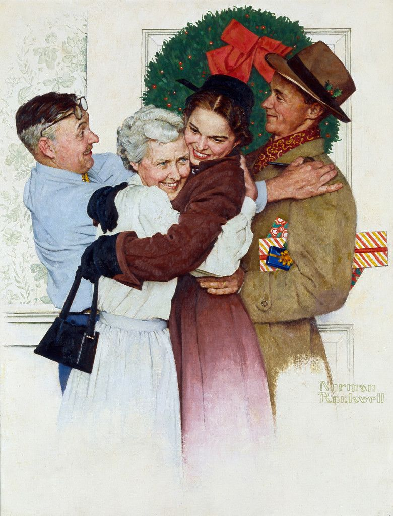 The fascinating photos behind Rockwell\'s holiday paintings ...